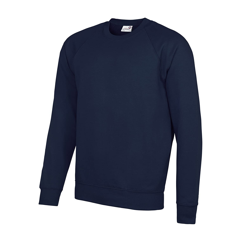 2XL Green Awdis Academy Childrens//Kids Crew Neck Raglan School Sweatshirt