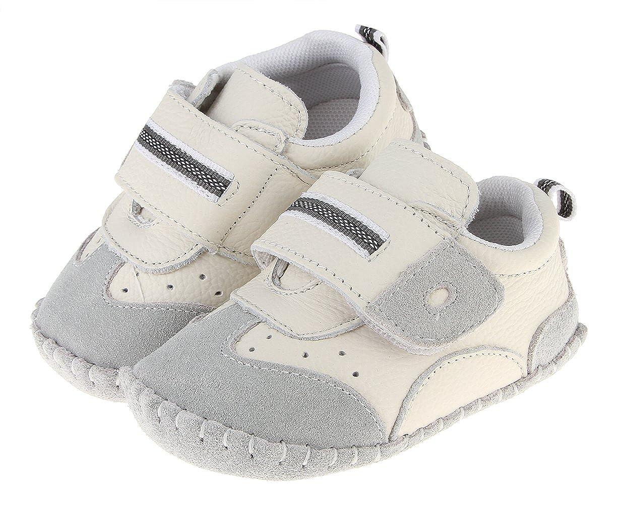17f0e221150c7 Cloud Kids Chaussures Bébé en Cuir Souple Premier Pas Chausson Cuir Bébé Fille  Chaussure Bébé Garçon