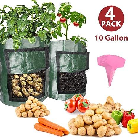Bolsas de cultivo de patata de 10 galones (4pack sacs de ...