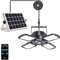 Solar Pendant Lights with Motion Sensor Indoor/Outdoor,3 Lighting Modes with Remote Control 4 Leaf 128 LED 1000LM Solar…