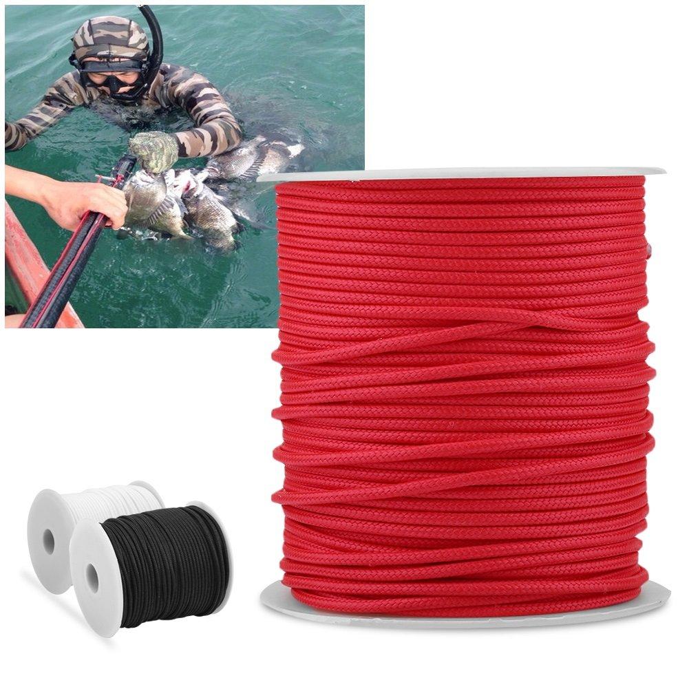 Línea de Pesca Trenzada PE Línea de Carrete de Arpón Línea Resistente a la Abrasión (Color : Rojo) : Amazon.es: Deportes y aire libre