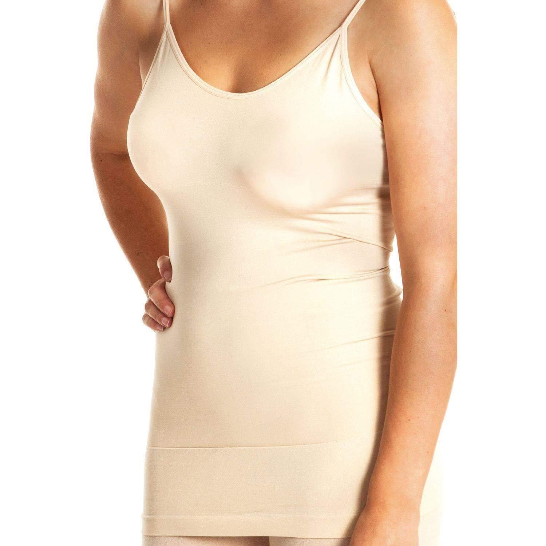 Guilty Gadgets ® Slimming Corsage – Frauen Frauen Shapewear Feste Enge Weste Unterwäsche Body Control Wear unter figurbetontem Kleid – Beige – Kleine Größe