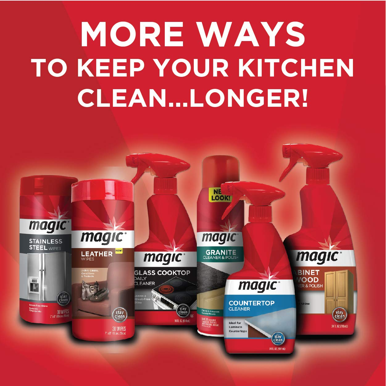 MAGIC Glass Cooktop Cream Cleaner & Polish - 16 oz. and Daily Cleaner - 14 Ounce - Cleans and Protects Glass and Ceramic Smooth Top Ranges with its Gentle Formula by MAGIC (Image #6)