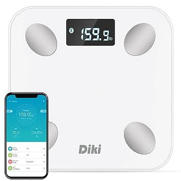 Amazon.com: Báscula de grasa corporal, Diki Bluetooth de ...