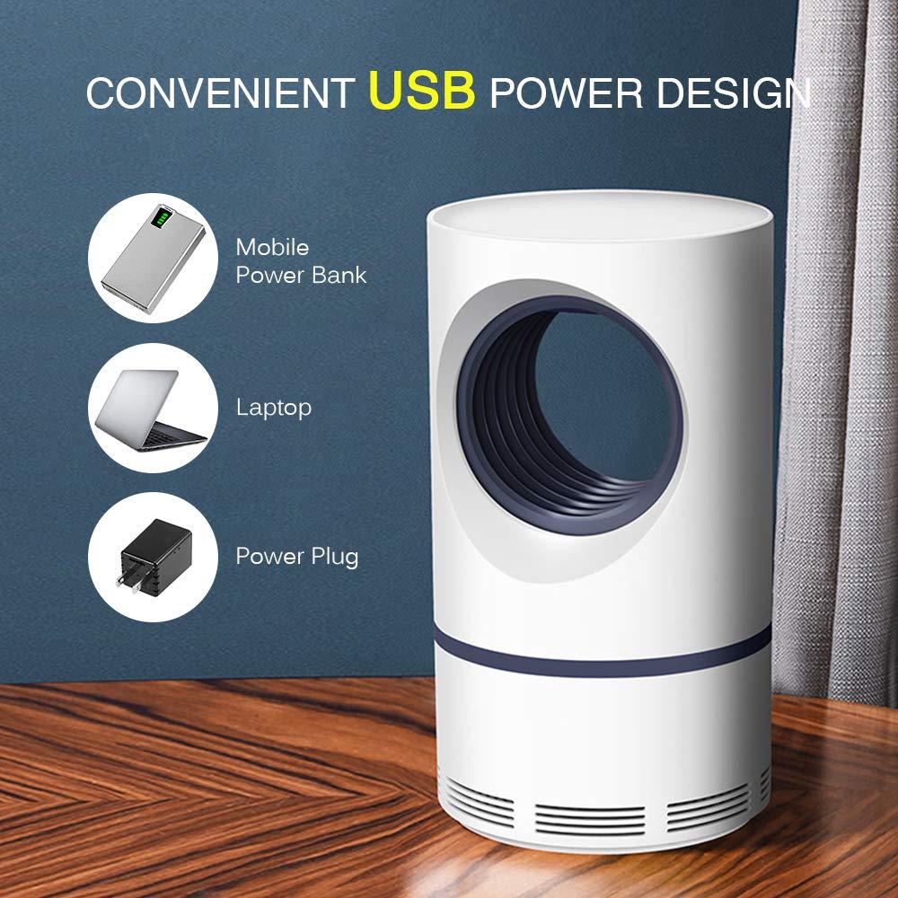 Lixada L/ámpara Mosquitos Electrico LED USB 5W L/ámpara Camping Antimosquitos para Acampada Hogar Oficina