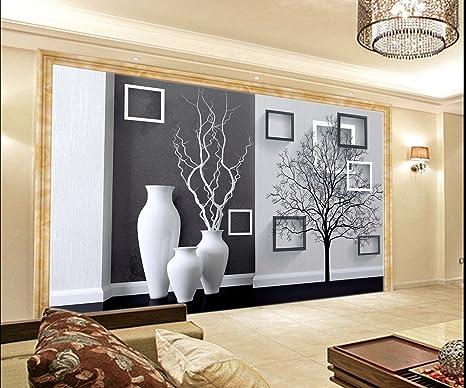 Pareti A Strisce Bianco E Nero : Carta da parati in tessuto non tessuto parete immagini di vasi in