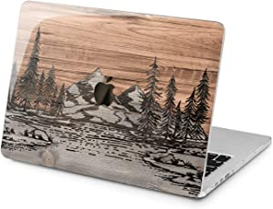 Lex Altern Hard Case for Apple MacBook Pro 15 Air 13 inch Mac Retina 12 11 2020 2019 2018 2017 2016 Brown Trees Plastic Forest Nature Protective Cover Wood Texture Laptop View Shell Print Mountain