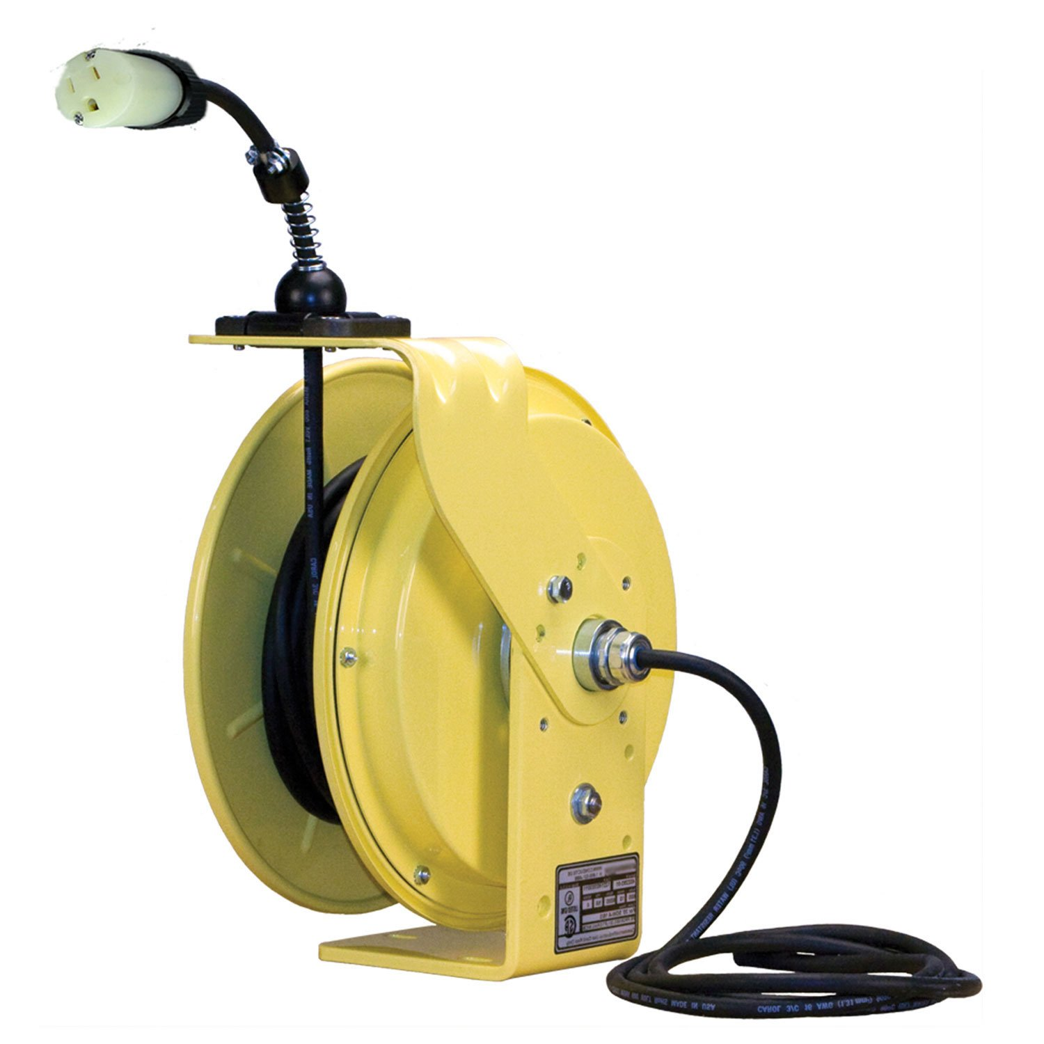 Lind Equipment LE9050143S1 Heavy Duty Cord Reel, 50ft 14/3 SJOW, 5-15P input, single 5-15R output, 15A rated, NEMA4, all-steel