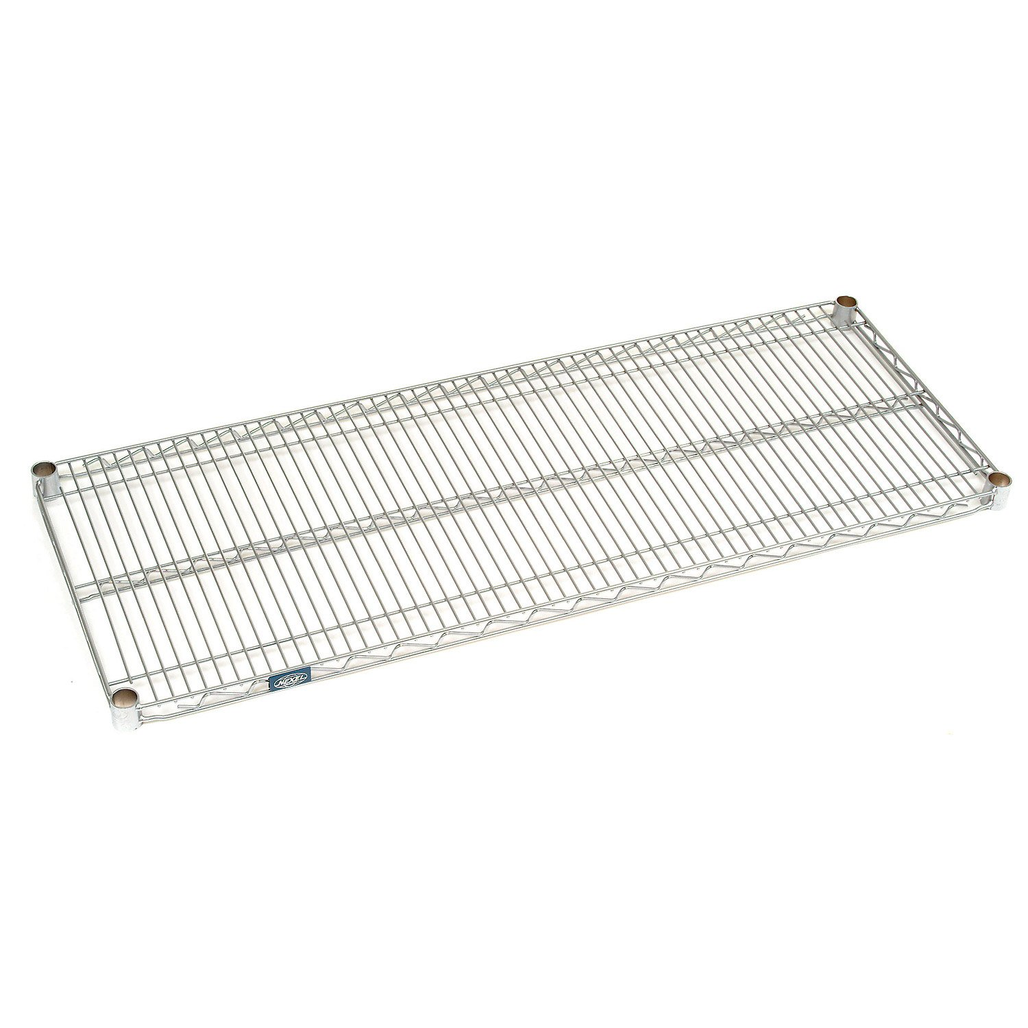 Chrome Wire Shelf With Clips, 60 x 24