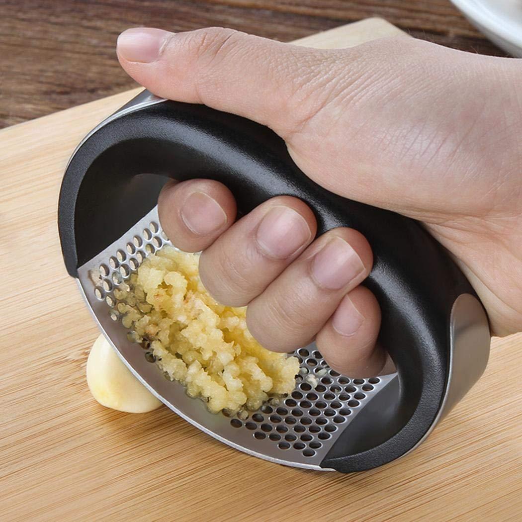 Iuyem Neue Küche Edelstahl Knoblauchpresse Täglich nützliche Kochgeräte Knoblauchpressen