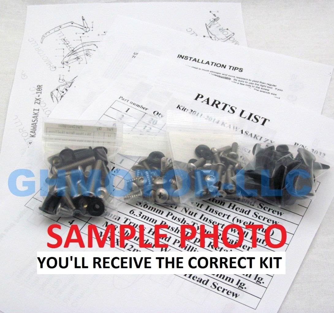 GHMotor Complete Fairings Bolts Screws Fasteners Kit Set Made in USA for 2009 2010 2011 2012 2013 2014 Yamaha R1 - Silver by GHMotor (Image #4)