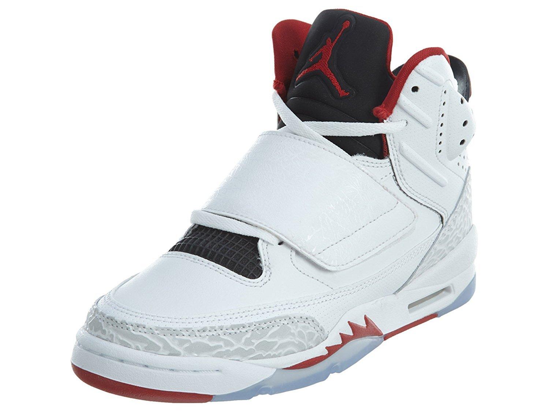 JORDAN SON OF BG boys basketball-shoes 512246-112_4Y - White/Black/Pure Platinum/Gym Red by Jordan