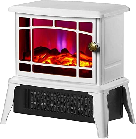 Amazon Com ¬ードレール Outdoor Heating Portable Electric Stove Heater 3 Second Speed Thermoelectric Fireplace Heater With Realistic Led Log Fire Flame Effect Heaters For Patio Color White Size 1500w Garden Outdoor