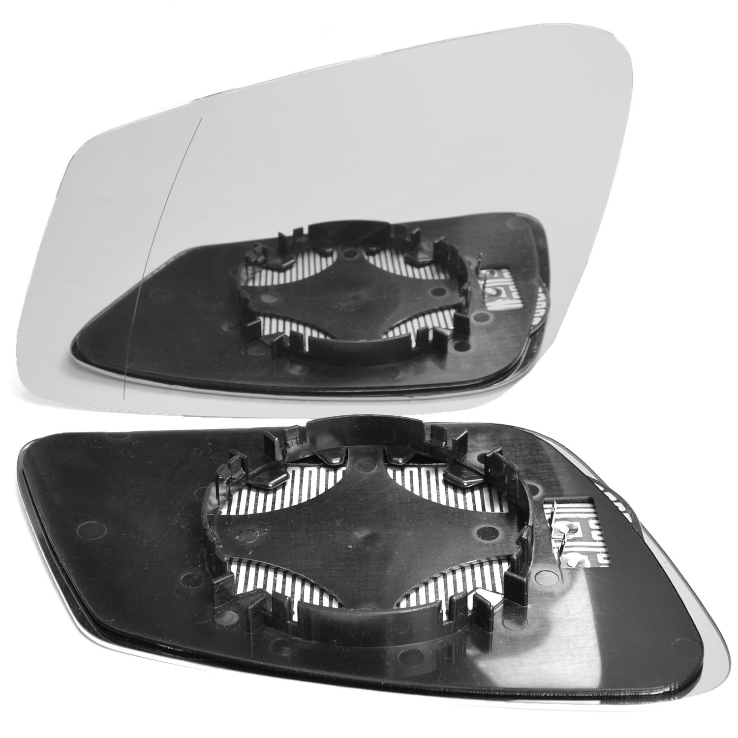 Left passegner side wing door clip on mirror glass Wide Angle Heated