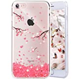Enflamo TPU 3D Relief Flower Pattern Case for iPhone 7 /iPhone 8(Cherry Blossom)
