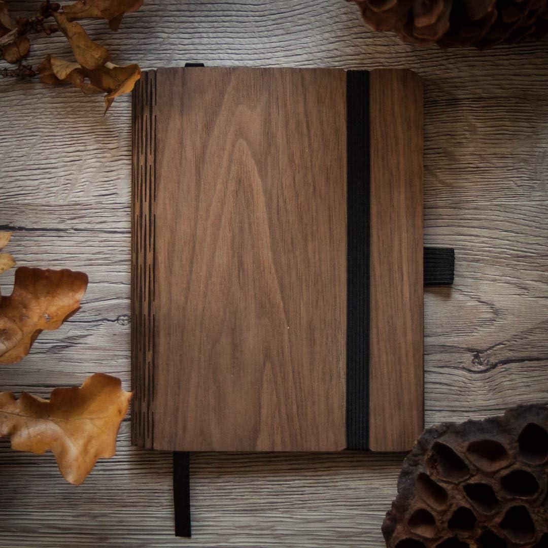 Walnuss JUNGHOLZ WoodBook A6 nachhaltiger Jahresplaner 2020 aus Holz
