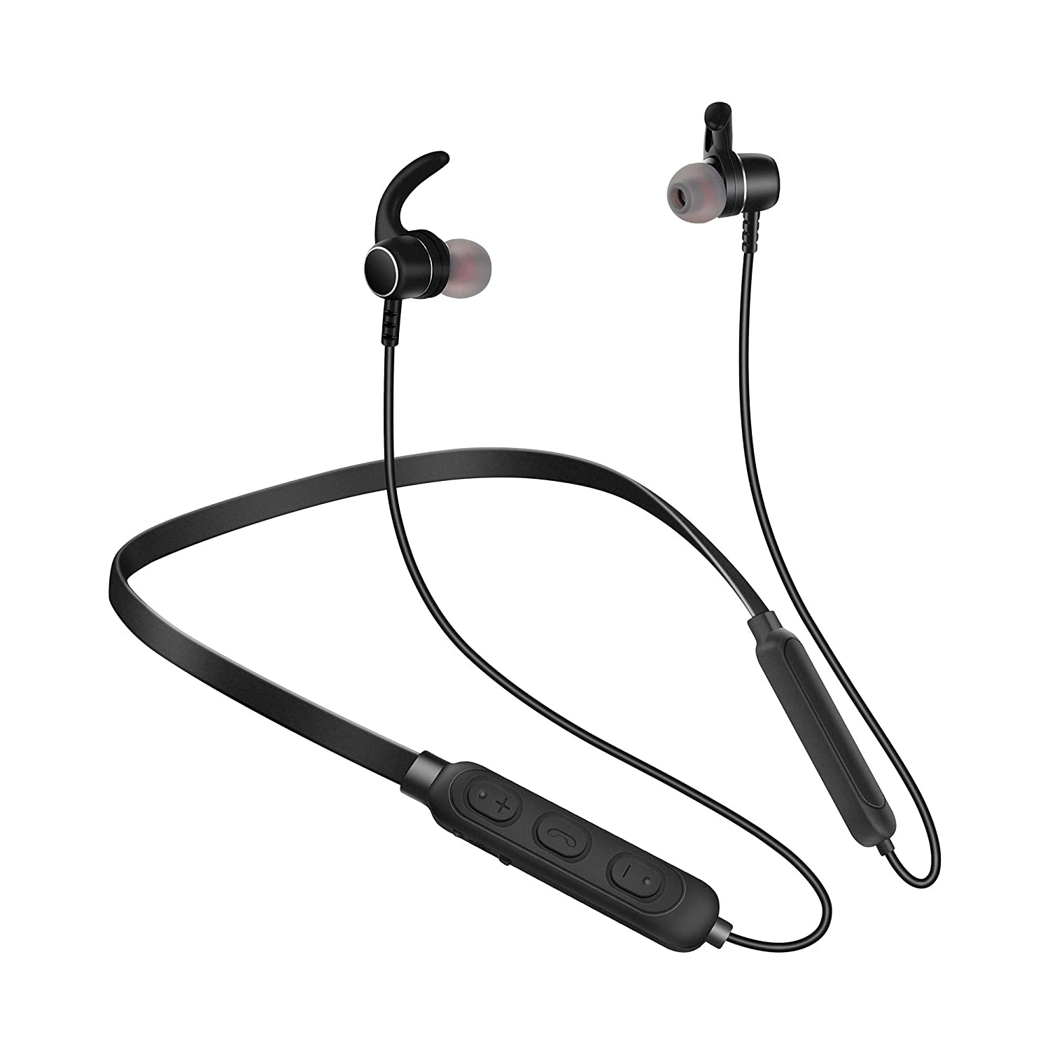 Bluetooth Headphones, Noise Cancelling Headphones with Microphone - Magnetic HD Stereo Wireless Headphones, IPX5 8 Hour Battery Waterproof Bluetooth Headset for Running Workout & Gym
