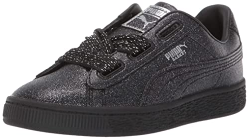 PUMA Unisex Baby Basket Heart Patent Kids Sneaker: Puma