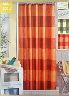 Wenko 20039100 Rideau De Douche En Textile Orange Anti Moisissure