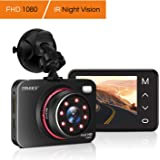 Dash Cam,TryAce Car Camera Night Vision Dashcam 1080P Full HD Car Video Recorder with 8 IR Lights 170°Wide Angle G-Sensor Parking Monitor WDR Motion Detection Loop Recording DVR dashboard camera (C)