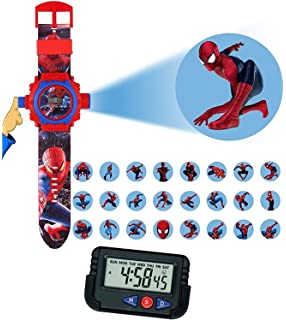 Pappi Boss Kids Favourite - Pack of 2 Spiderman Projector Wrist Band Watch for Kids,