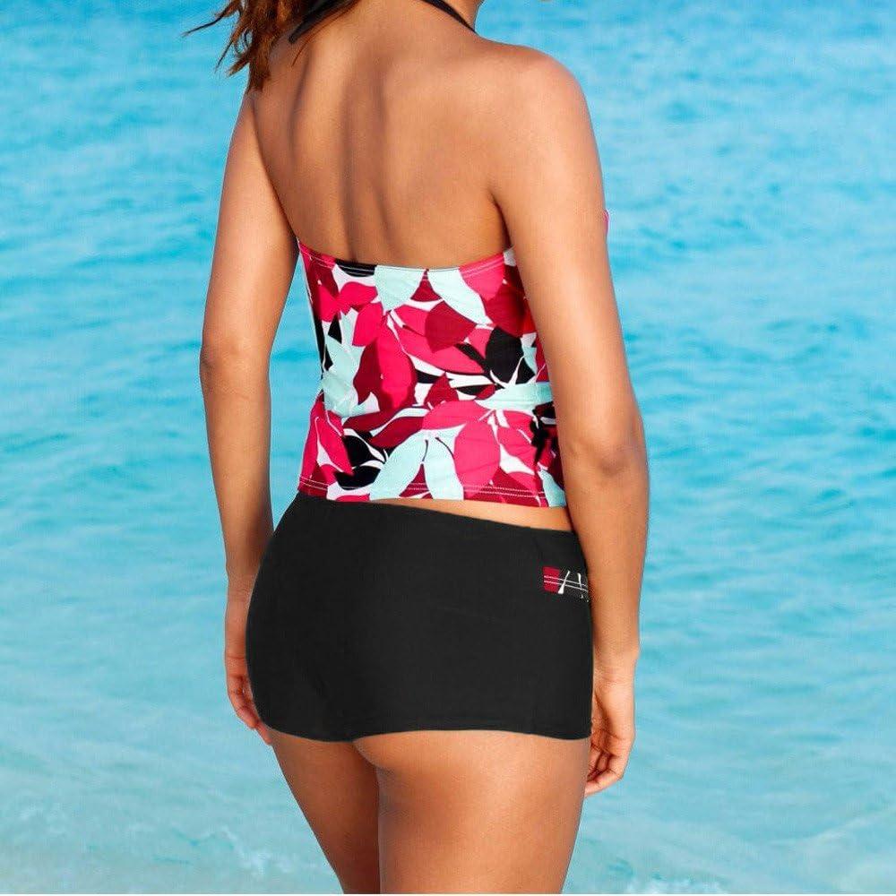 DAY.LIN Bikini Teilen Bademode Damen Frauen Tankini Sets mit Jungen Shorts Damen Bademode Zweiteilige Badeanz/üge