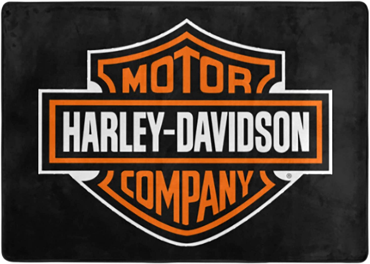 Harley Davidson Super Soft Indoor Modern Shag Area Silky Smooth Fluffy Rugs Anti-Skid Shaggy Area Rug Dining Room Home Bedroom Carpet 84X60 in