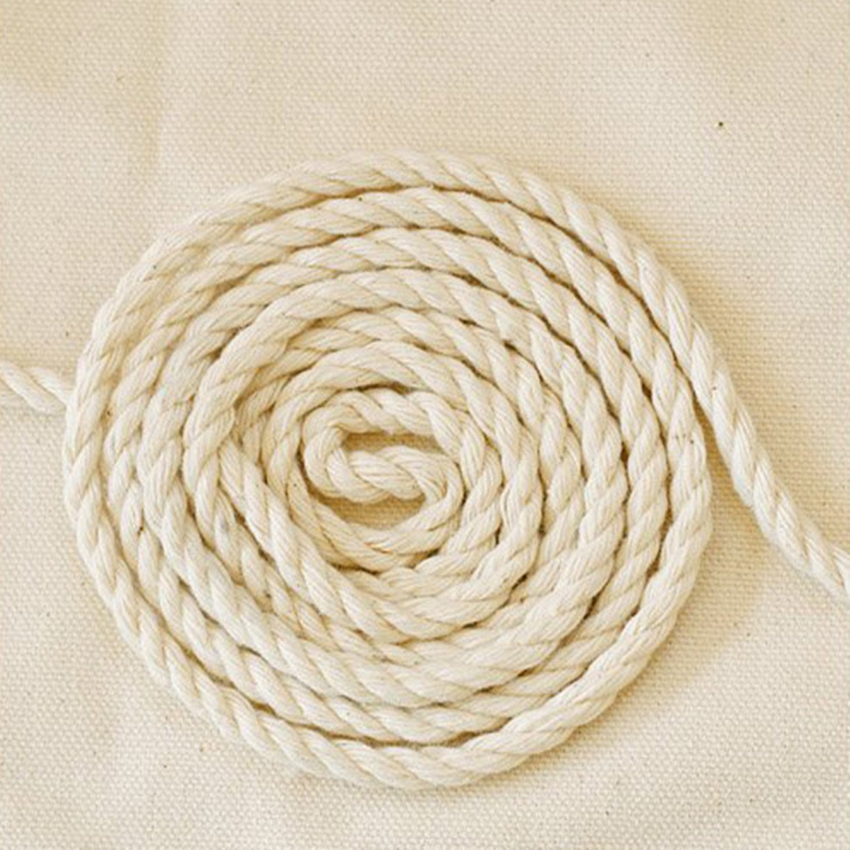 WellieSTR (100Metters/109yards) 3 Shares Twisted Cotton Cords 8mm BEIGE DIY Craft Decoration Rope Cotton Cord for Bag Drawstring Belt by WellieSTR (Image #4)