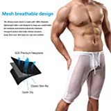 MIZOK Men's Mesh Sexy Compression Base Layer Shorts Pants Underwear
