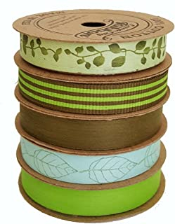 """product image for Cream City Ribbon Artisan Curling Ribbon Collection""""Green Goddess Assortment"""""""