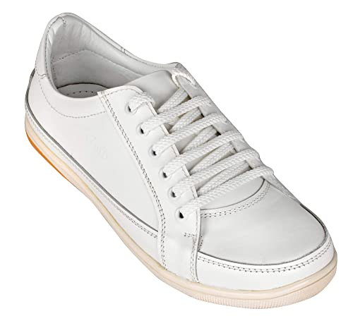 Buy Pure White Leather Casual Shoes