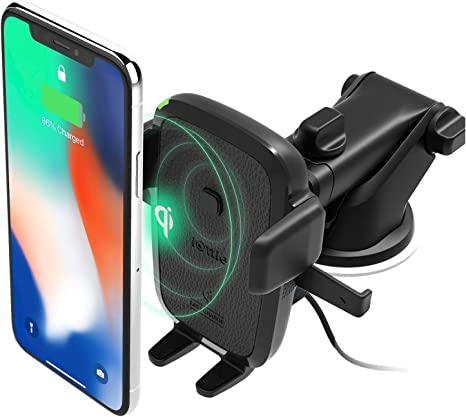 iOttie Easy One Touch Wireless Qi Fast Charge Car Mount Kit || Fast Charge: Samsung Galaxy S10 S9 Plus S8 S7 Edge Note 8 5 | Standard Charge: IPhone X ...