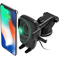 iOttie Easy One Touch Wireless Qi Fast Charge Car Mount Kit || Fast Charge: Samsung Galaxy S10 S9 Plus S8 S7 Edge Note 8…