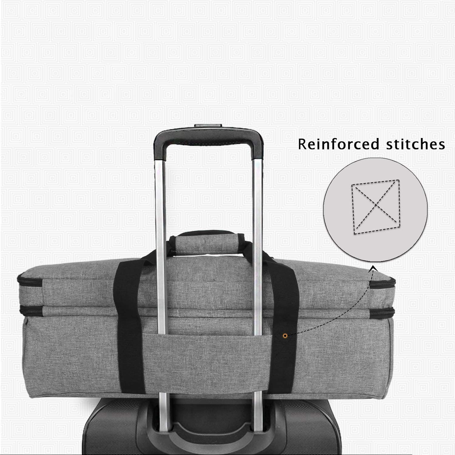 Bag Only and Cameo 3 Cricut Explore Air Air2 Luxja Carrying Bag for Cutting Machine and Supplies Grey Tote Bag for Cricut Maker Fit for Brother ScanNCut CM300, CM600, CM700, CM900