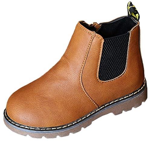Scothen Chicas Martin Botas Impermeables Botas Cortas Invierno Zapatos para Niños Zapatos de Encaje Botines Botines