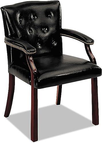 HON 6540 Series Hardwood Guest Chair, Black