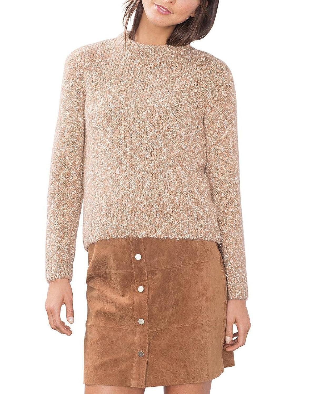 edc by ESPRIT Damen Pullover 096CC1I023, Rosa (Nude 685), 42 (Herstellergröße: XL)