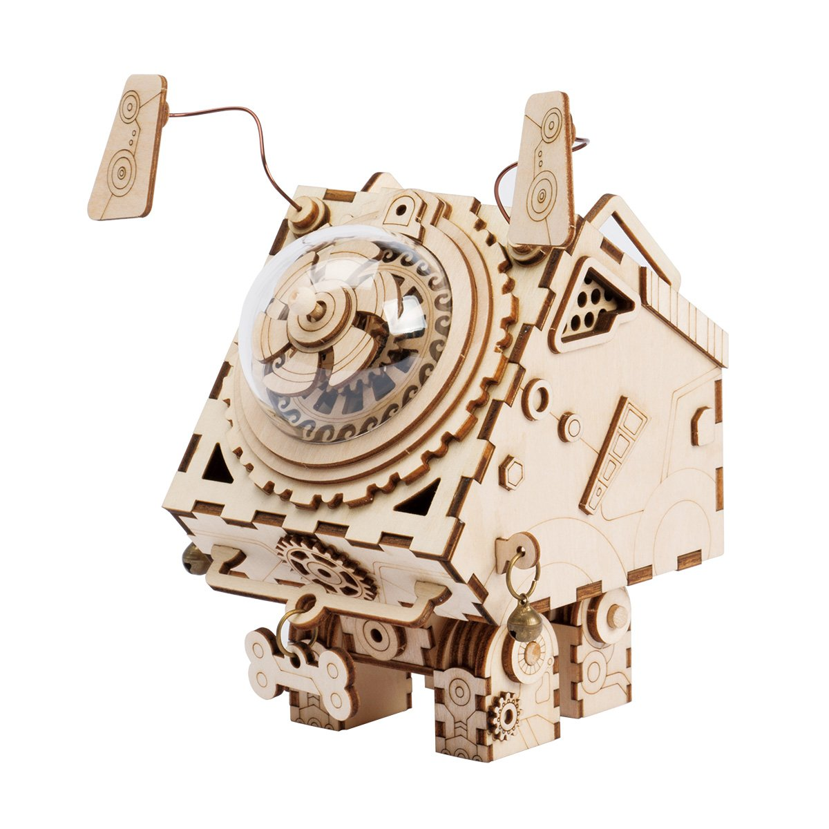 Steampunk Music BoxSeymour ROKR DIY Wooden Music Box KitHand Crank Musical Mechanism3d Wooden Model Building KitBest Gift Boys Girls When Christmas Birthday Valentine's Day