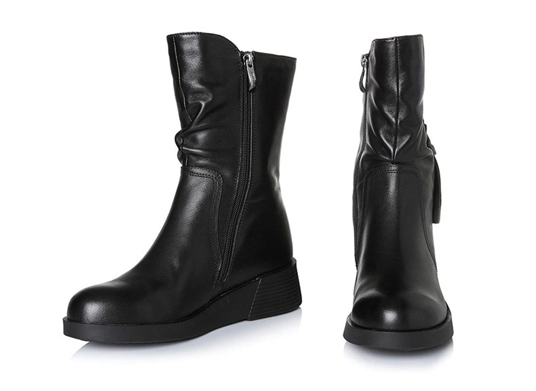 Botas De Negro Cuero De De De De 19202 Moda Para Mujer MSM4 Elegante Y e7b712