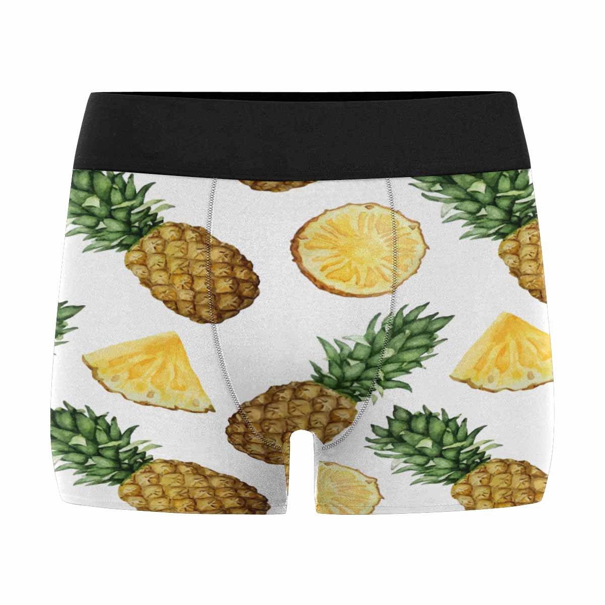 INTERESTPRINT Mens Boxer Briefs Underwear Pineapples XS-3XL