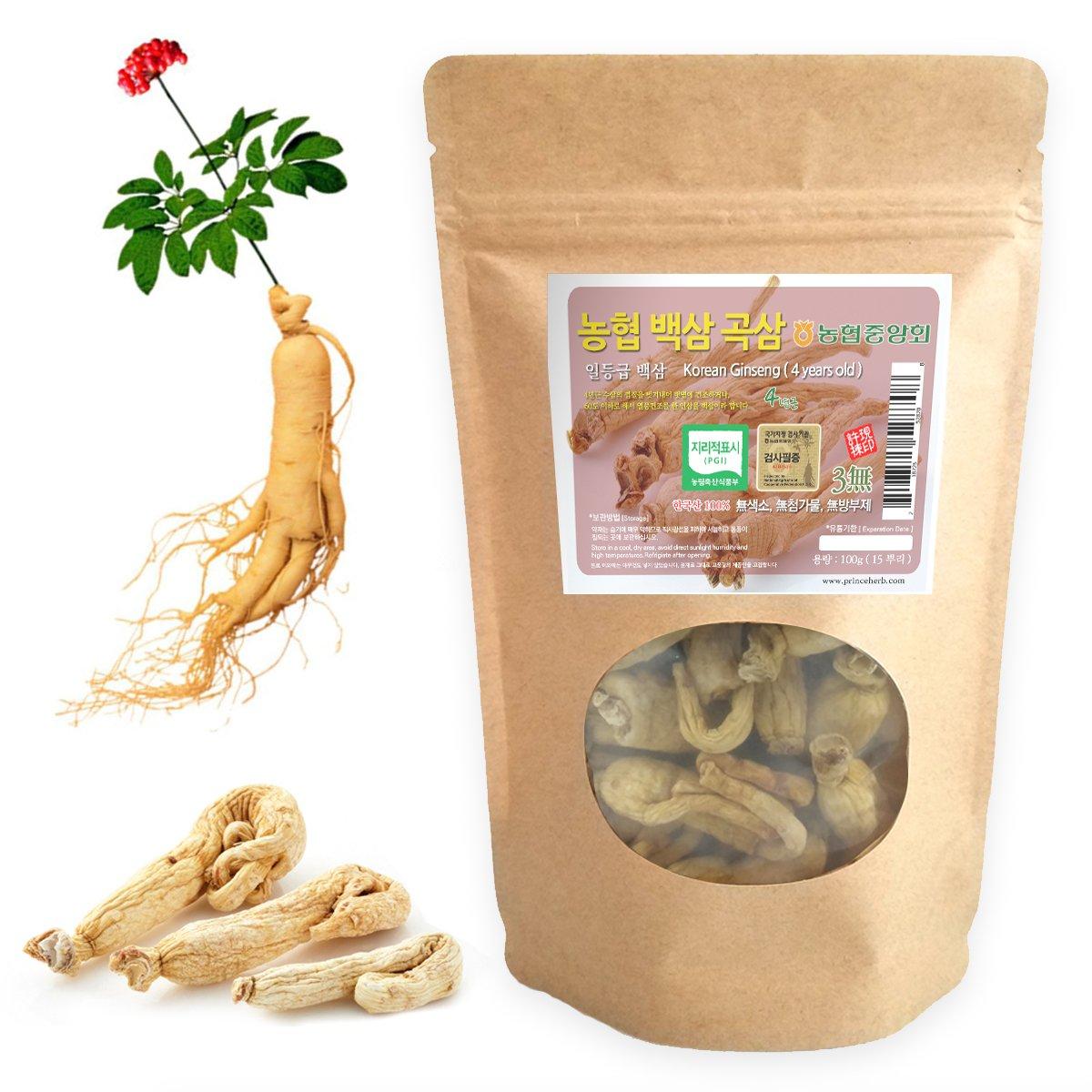 [Medicinal Korean Herb] 4 Years Old Korean Ginseng (Renshen/인삼) Dried Bulk Herbs 100g (15 roots) by HERBstory