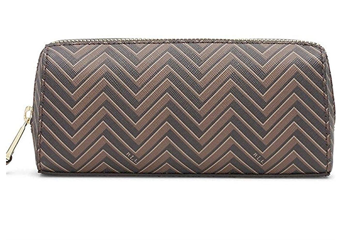[Tory Burch] (ラルフローレン) RALPH LAUREN Chevron Print 女性用 レディース 化粧 ケース ポーチ 鞄 Ladies Cosmetic Case/Makeup Pouch [並行輸入品]  Brown / Tan B01DJ01SZI