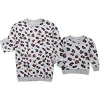 Toddler Little Baby Girl Leopard Sweatshirt Casual Long Sleeve Shirt Pullover Blouse Tops Sweater Clothes