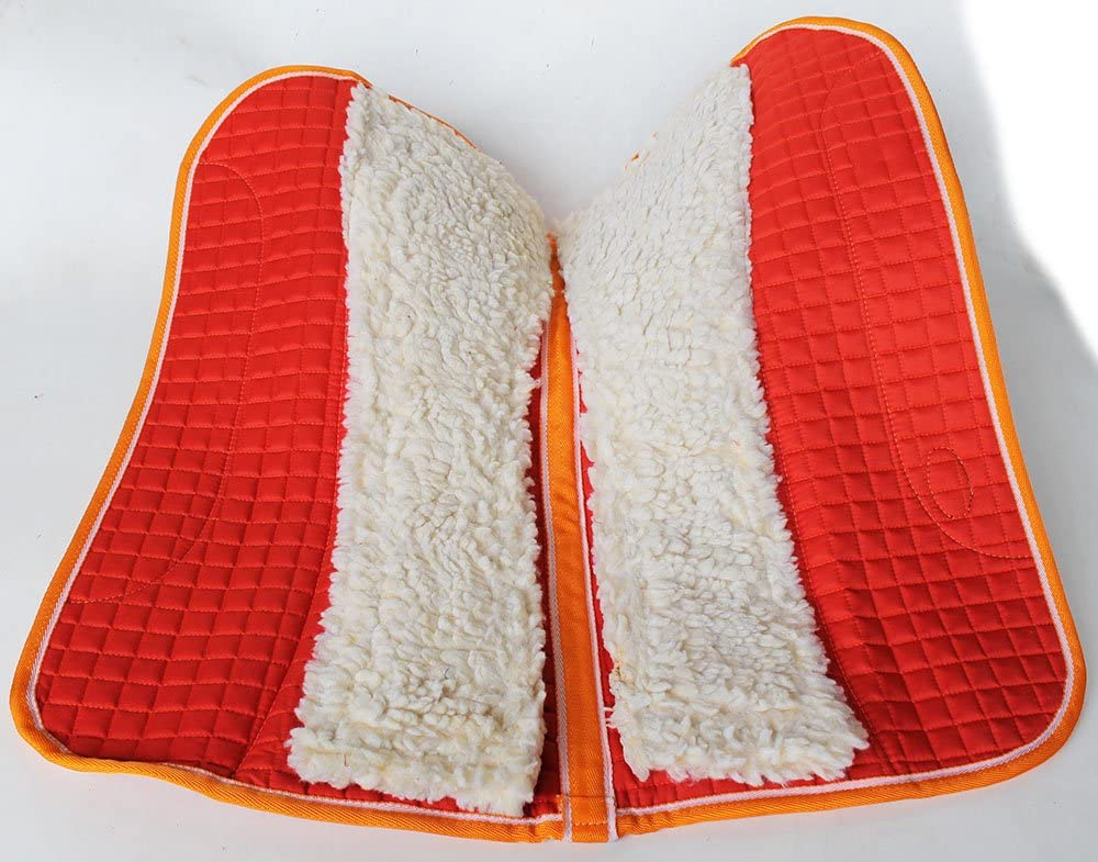 CHALLENGER 28 x 30 Western Quilted Fleece Padded Saddle Pad Orange 39100