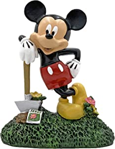 The Galway Company Mickey Mouse with Garden Shovel Statue, Hand Painted, Stands 6.5 inches Tall and 5 inches Wide. Official Licensed Disney Product.