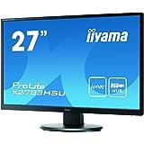 Iiyama X2783HSU-B1 68,5 cm (27 Zoll) LED-Monitor (DVI, VGA, USB, HDMI, 4ms Reaktionszeit) schwarz
