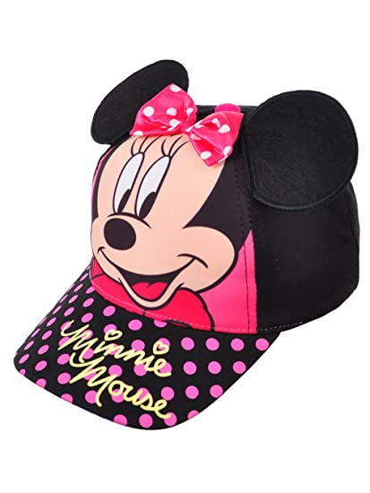 b9dbfcfcfb73b Amazon.com  Minnie Mouse Disney Girls 3D Ears Baseball Cap Toddler ...