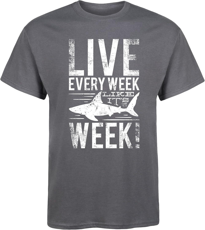 Live Every Week Like (Shark) Week - Men's Short Sleeve Graphic T-Shirt