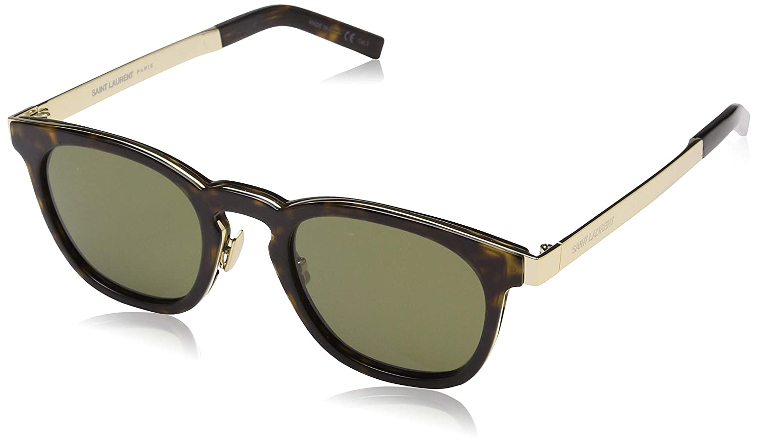 3d08cf7d13f Saint Laurent Unisex's SL 28 COMBI 004 Sunglasses, 4/Green, 49:  Amazon.co.uk: Clothing