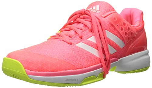 adidas Performance Women's Adizero Ubersonic 2 W Tennis Shoe, Flash Red  White/Electricity,
